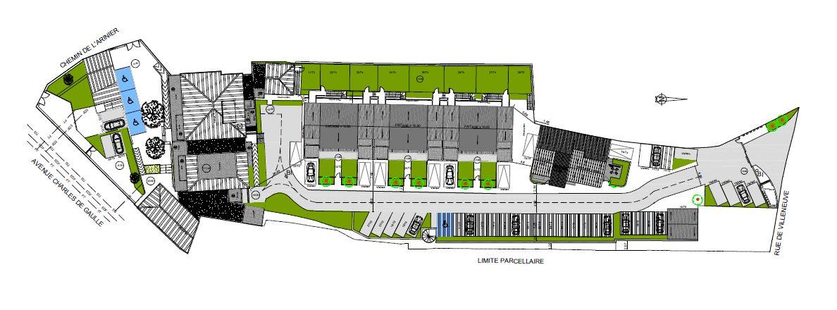 Plan résidence Les Hauts de Caromb