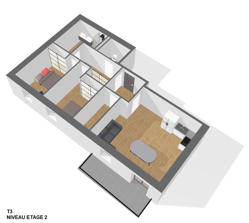 T3 Etage 2